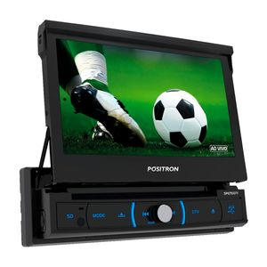 Dvd Player Automotivo Pósitron Sp-6730Dtv 1 Din 7 Polegadas Tv Digital Bluetooth Usb