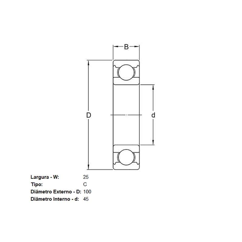 Rolamento-Cambio-Skf-Qj309C2-sku-25489