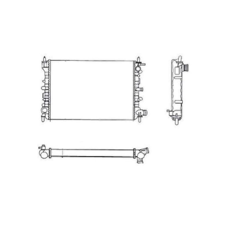 Radiador-De-Motor-Ford-Escort-Verona-Vw-Pointer-Sem-Ar-Valeo-Ta690001R-sku-30308