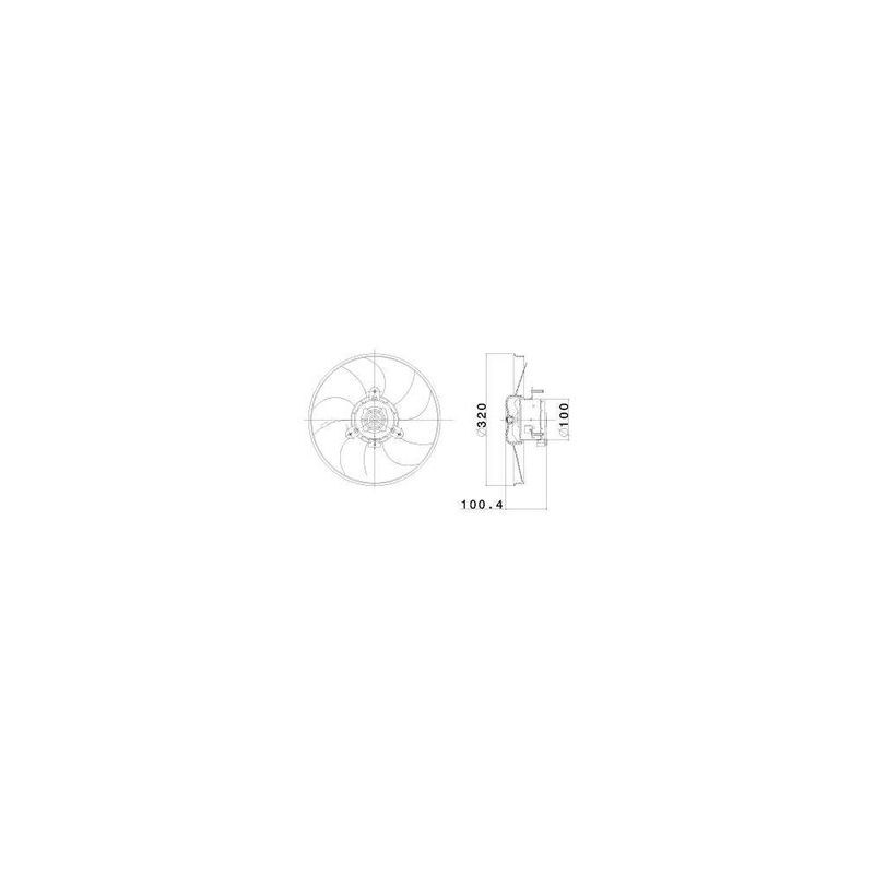 Eletroventilador-C--Ar-12V-S--Resistencia-S--Defletor-698845R-Valeo-sku-83188