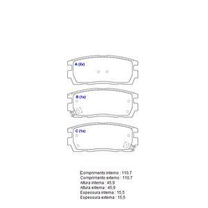 Pastilha-Freio-Convencional-Traseira-Com-Alarme-Sistema-Akebono-2091-Syl
