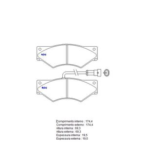 Pastilha-Freio-Convencional-Dianteira-Com-Alarme-Sistema-Perrot-1271-Syl