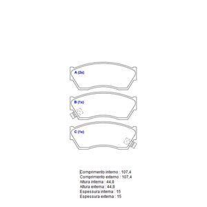 Pastilha-Freio-Convencional-Dianteira-Com-Alarme-Sistema-Akebono-1373-Syl