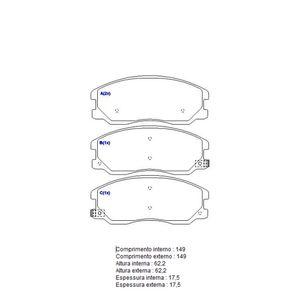 Pastilha-Freio-Convencional-Dianteira-Com-Alarme-Sistema-Mando-2090-Syl