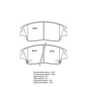 Pastilha-Freio-Convencional-Dianteira-Com-Alarme-Sistema-Akebono-7260-Syl