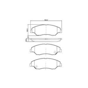 Pastilha-Freio-Convencional-Dianteira-Com-Alarme-Bb486-0986Bb0173-Bosch