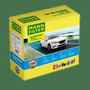 Kit-de-Filtros-Hyundai-Hb20-1.0-12V-2013-a-2019-Ar-Condicionado-Cabine-Combustivel-e-Oleo-Mann-SP110684-Frente